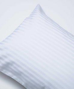 satin stripe white