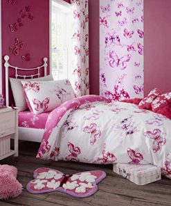 Butterfly Pink Duvet Cover set