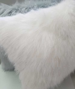 Metallic fur Cushion cover