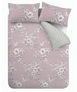 e4659a916d1 Catherine Lansfield Canterbury Duvet Cover Set - Heather Pink ...