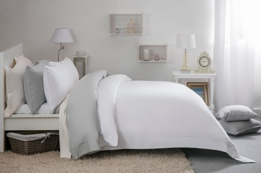 100/% Egyptian Cotton 400 TC Duvet Cover Bedding Bed Set White Fitted Flat Sheet
