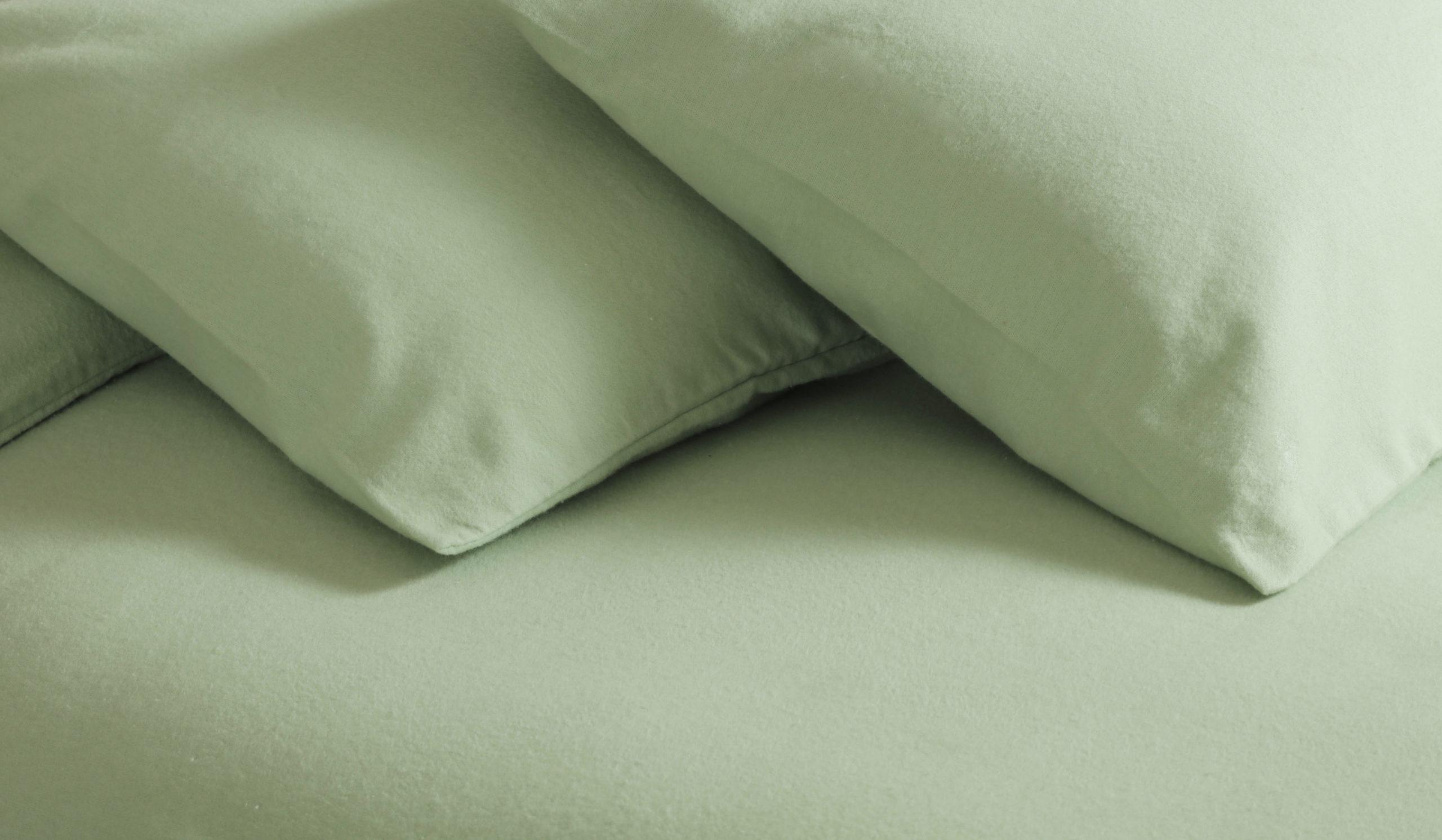 Belledorm Aspen Brushed Cotton Flanalette Check Duvet Cover Set Cream /& Blue