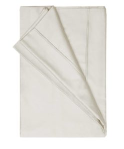450 Thread Count Pima Cotton Flat Sheet in White Single Bed Size 180cm x 260cm